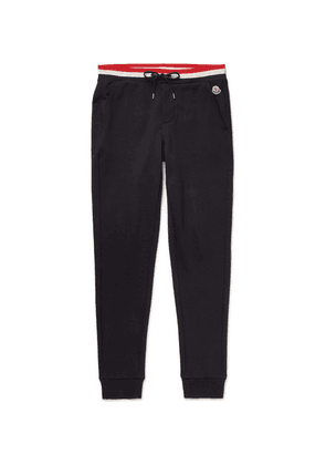 Moncler - Tapered Loopback Cotton-jersey Sweatpants - Navy