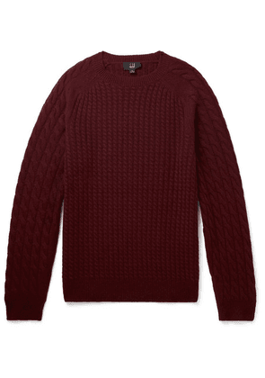 Dunhill - Cable-knit Cashmere Sweater - Burgundy