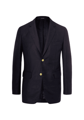 Dunhill - Navy Slim-fit Mohair And Wool-blend Blazer - Navy