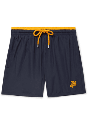 Vilebrequin - Mokami Mid-length Embroidered Swim Shorts - Navy