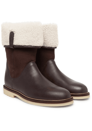 Loro Piana - Snow Walk Shearling-lined Leather And Suede Boots - Brown