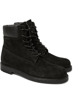 Hender Scheme - Mip-14 Leather-trimmed Suede Boots - Black