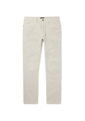 Dunhill - Slim-fit Stretch-denim Jeans - Stone