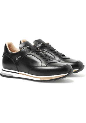 Dunhill - Duke Polished-leather Sneakers - Black