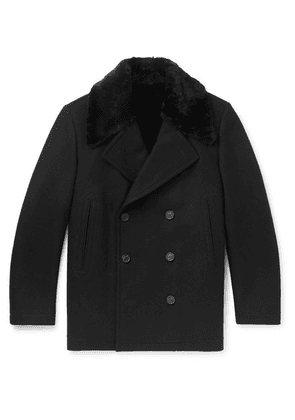 Dunhill - Wool-blend And Shearling Coat - Black