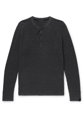rag & bone - Knitted Henley T-shirt - Charcoal
