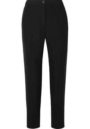 rag & bone - Meki Grosgrain-trimmed Crepe Tapered Pants - Black