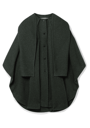 See By Chloé - Oversized Wool-blend Twill Cape-effect Coat - Green