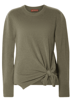 Altuzarra - Nalini Knotted Cashmere Sweater - Army green