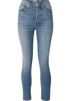 RE/DONE - Stretch Ankle Crop High-rise Skinny Jeans - Light denim