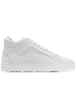 Etq. mid-top panel sneakers - White