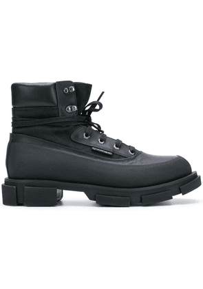 Both lug sole ankle boots - Black