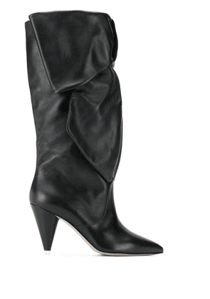 Attico ruched boots - Black