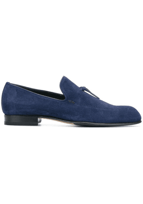 Brioni pointed toe loafers - Blue