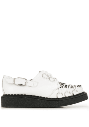 Comme Des Garçons Homme Plus crossover lace up creepers - White