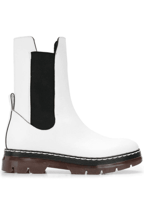 Cédric Charlier elasticated side panel boots - White