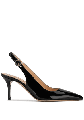 Charlotte Olympia pointed slingback pumps - Black