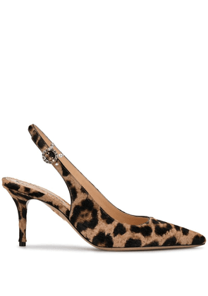 Charlotte Olympia pointed leopard print pumps - Neutrals