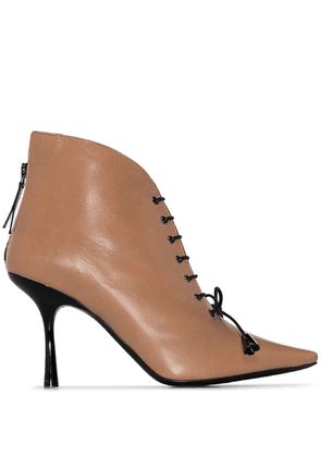 Fabrizio Viti Mae lace-up ankle boots - Neutrals
