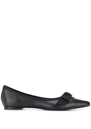 Anna Baiguera bow-detail pointed ballerinas - Black
