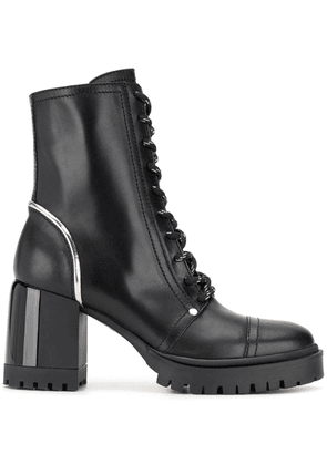 Casadei chunky heel ankle boots - Black