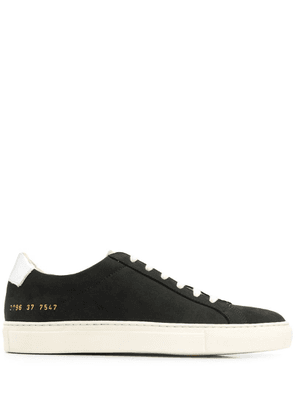 Common Projects two-tone low top sneakers - Black