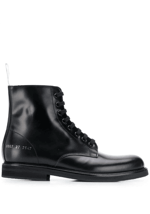 Common Projects branded ankle boots - Black