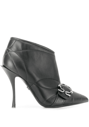 Dolce & Gabbana quilted buckled leather booties - Black