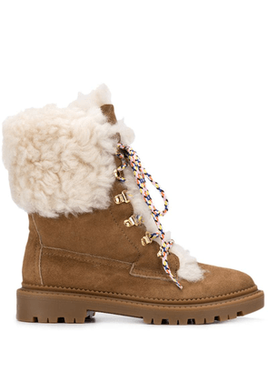 Casadei shearling tall boots - Brown
