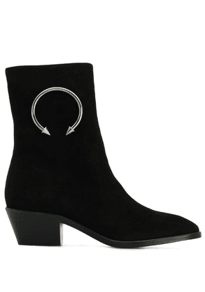 Dorateymur hoop embellished ankle boots - Black