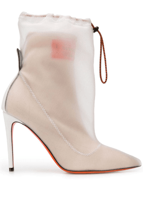 Heron Preston layered ankle boots - Neutrals