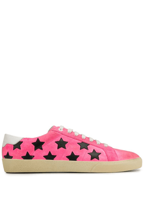 Saint Laurent embroidered stars sneakers - Pink