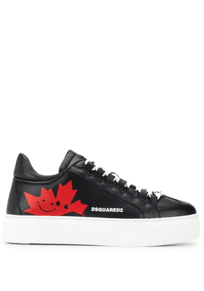 Dsquared2 maple leaf sneakers - Black