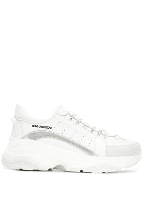 Dsquared2 embroidered logo sneakers - White