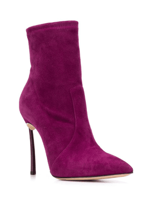 Casadei blade ankle boots - Purple