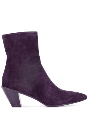 A.F.Vandevorst pointed toe boots - Purple