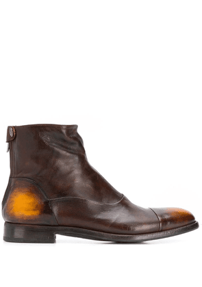 Alberto Fasciani tinted ankle boots - Brown