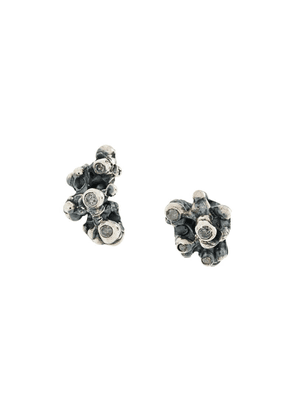 Chin Teo coral stud earrings - Metallic