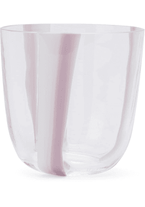 Carlo Moretti striped drinking glass - Purple
