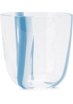 Carlo Moretti two-tone stripe glass - Blue