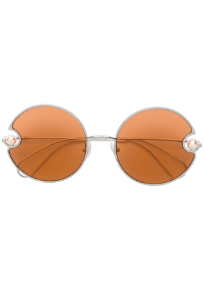 Christopher Kane Eyewear round shaped sunglasses - Orange
