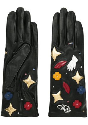 AGNELLE Funny Patches gloves - Black