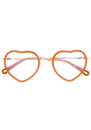 Chloé Eyewear heart frame glasses - Brown