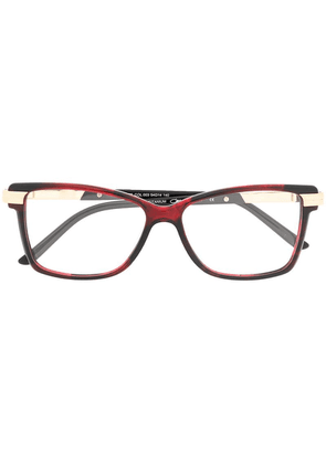 Cazal square frame glasses - Red