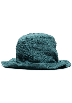 By Walid Firas embroidered bucket hat - Blue