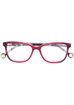 Ch Carolina Herrera rectangular shape glasses - Red