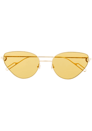 Cartier cat-eye shaped sunglasses - Gold