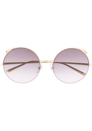 Cartier round framed sunglasses - Gold