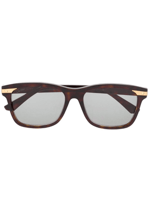 Cartier square frame sunglasses - Brown