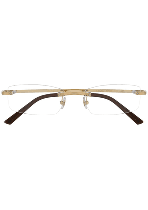 Cartier rectangular frame glasses - Gold